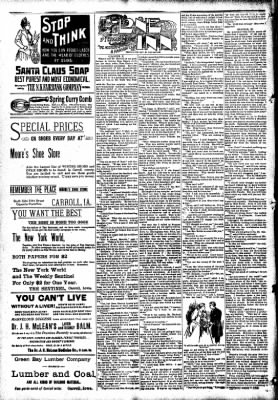 The Carroll Sentinel from Carroll, Iowa on December 7, 1894 · Page 10