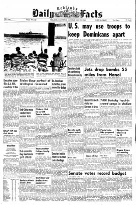 Redlands Daily Facts from Redlands, California on May 22, 1965 · Page 1