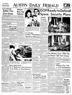 The Austin Daily Herald from Austin, Minnesota on January 15, 1959 · Page 1