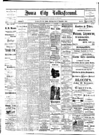 Sample Iowa City Volksfreund front page