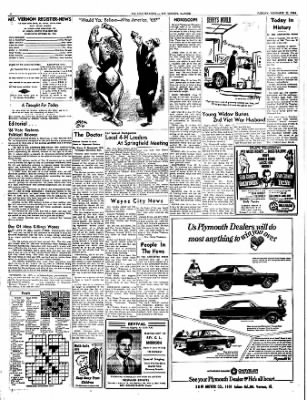 Mt. Vernon Register-News from Mt Vernon, Illinois on November 22, 1966 · Page 4