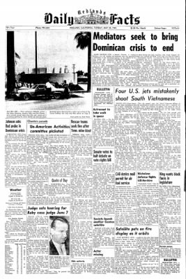 Redlands Daily Facts from Redlands, California on May 25, 1965 · Page 1