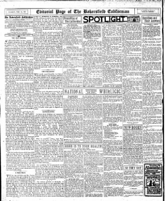 The Bakersfield Californian from Bakersfield, California on February 14, 1933 · Page 12