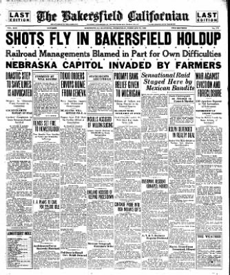 The Bakersfield Californian from Bakersfield, California on February 15, 1933 · Page 1