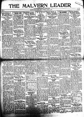 The Malvern Leader from Malvern, Iowa on March 1, 1934 · Page 1