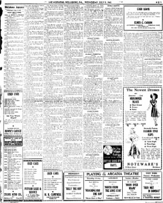 the wellsboro gazette bined with mansfield advertiser from  the wellsboro gazette bined with mansfield advertiser from wellsboro pennsylvania on july 9 1941 page 5