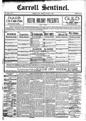 The Carroll Sentinel from Carroll, Iowa on January 4, 1895 · Page 1