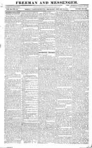 Sample Freeman And Messenger front page