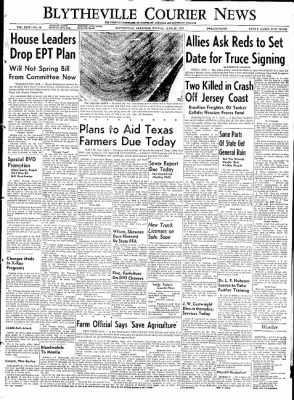 The Courier News from Blytheville, Arkansas on June 29, 1953 · Page 1