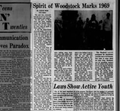 Spirit of Woodstock Marks 1969