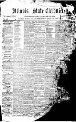 Illinois State Chronicle from Decatur, Illinois on June 4, 1857 · Page 1