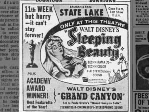 Ad for Walt Disney's Sleeping Beauty