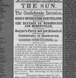 The Baltimore Sun from Baltimore, Maryland on June 17, 1863 · 1