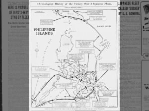 Chronological timeline/map of the Battle of Leyte Gulf