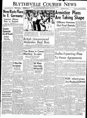 The Courier News from Blytheville, Arkansas on July 23, 1953 · Page 1