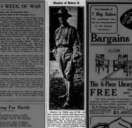 Clarence L. Childs enlisted 1917
