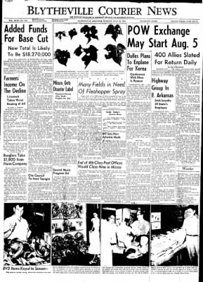 The Courier News from Blytheville, Arkansas on July 28, 1953 · Page 1