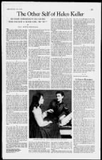 Feature article on Anne Sullivan: