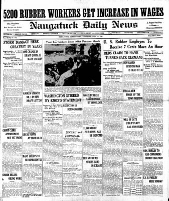 Naugatuck Daily News from Naugatuck, Connecticut on July 10, 1941 · Page 1