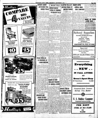 Naugatuck Daily News from Naugatuck, Connecticut on September 3, 1941 · Page 1