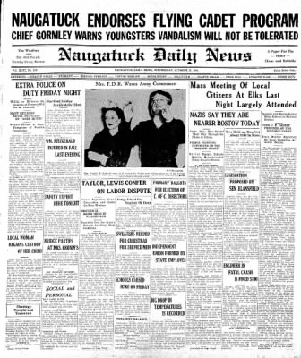 Naugatuck Daily News from Naugatuck, Connecticut on October 29, 1941 · Page 1