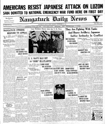 Naugatuck Daily News from Naugatuck, Connecticut on December 22, 1941 · Page 1