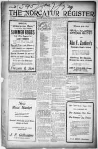 Sample The Norcatur Register front page