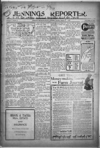 Sample Jennings Reporter front page