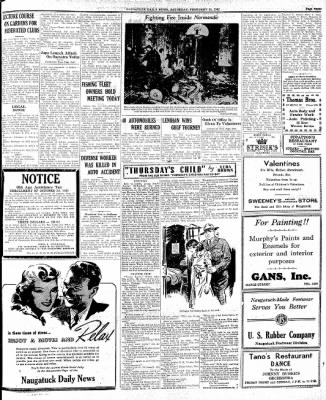 Naugatuck Daily News from Naugatuck, Connecticut on February 14, 1942 · Page 3