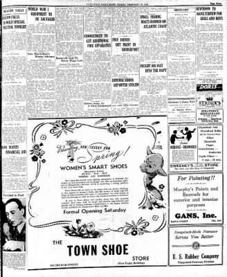Naugatuck Daily News from Naugatuck, Connecticut on February 27, 1942 · Page 1