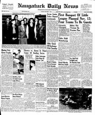 Naugatuck Daily News from Naugatuck, Connecticut on October 7, 1949 · Page 1