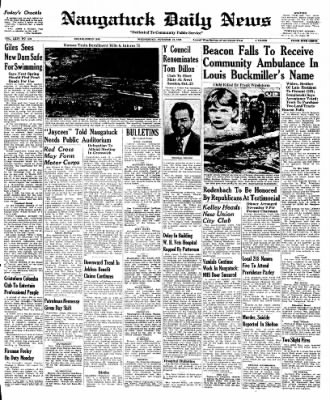 Naugatuck Daily News from Naugatuck, Connecticut on October 12, 1949 · Page 1