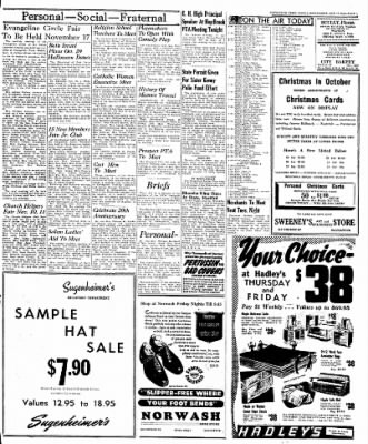 Naugatuck Daily News from Naugatuck, Connecticut on October 12, 1949 · Page 3