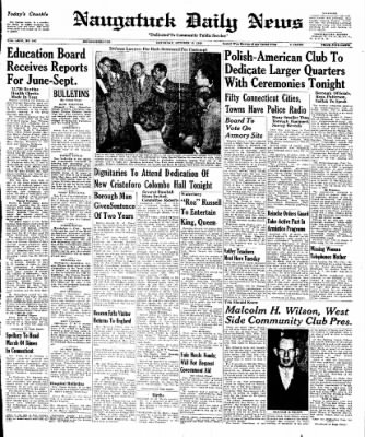 Naugatuck Daily News from Naugatuck, Connecticut on October 15, 1949 · Page 1