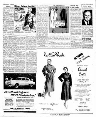 Logansport Pharos-Tribune from Logansport, Indiana on October 4, 1949 · Page 3