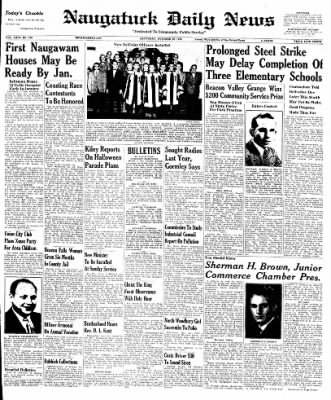 Naugatuck Daily News from Naugatuck, Connecticut on October 22, 1949 · Page 1