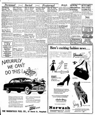 Naugatuck Daily News from Naugatuck, Connecticut on October 25, 1949 · Page 3