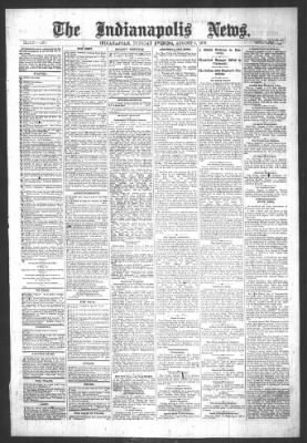 The Indianapolis News from Indianapolis, Indiana on August 6, 1878 · Page 1