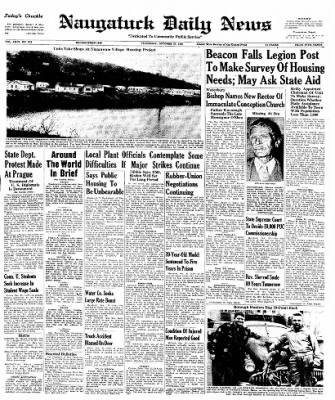 Naugatuck Daily News from Naugatuck, Connecticut on October 27, 1949 · Page 1