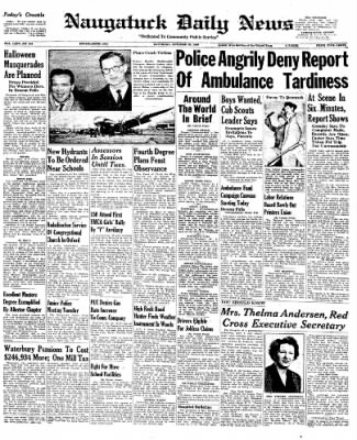 Naugatuck Daily News from Naugatuck, Connecticut on October 29, 1949 · Page 1