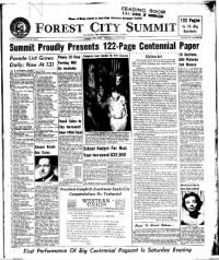 Sample Forest City Summit front page
