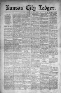 Sample Kansas City Ledger front page
