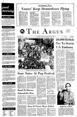 The Argus from Fremont, California on October 28, 1968 · Page 1