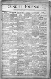 Sample Cundiff Journal front page