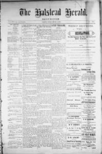 Sample Halstead Herald front page