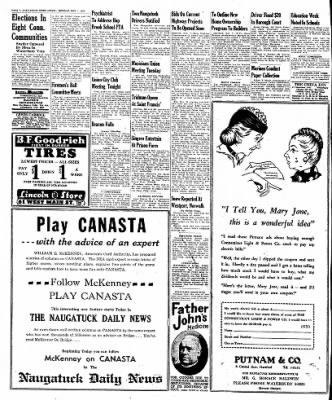 Naugatuck Daily News from Naugatuck, Connecticut on November 7, 1949 · Page 8