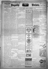 Sample Ingalls Union front page