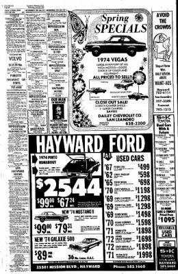 the argus from fremont california on april 20 1974 page 26 70 Dodge Coronet 500 the largest online newspaper archive