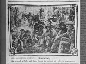 Picture of Geronimo and General Cook, featured in a 1909 newspaper