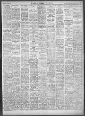 97510ce5628 The Los Angeles Times from Los Angeles, California on February 20, 1927 · 99
